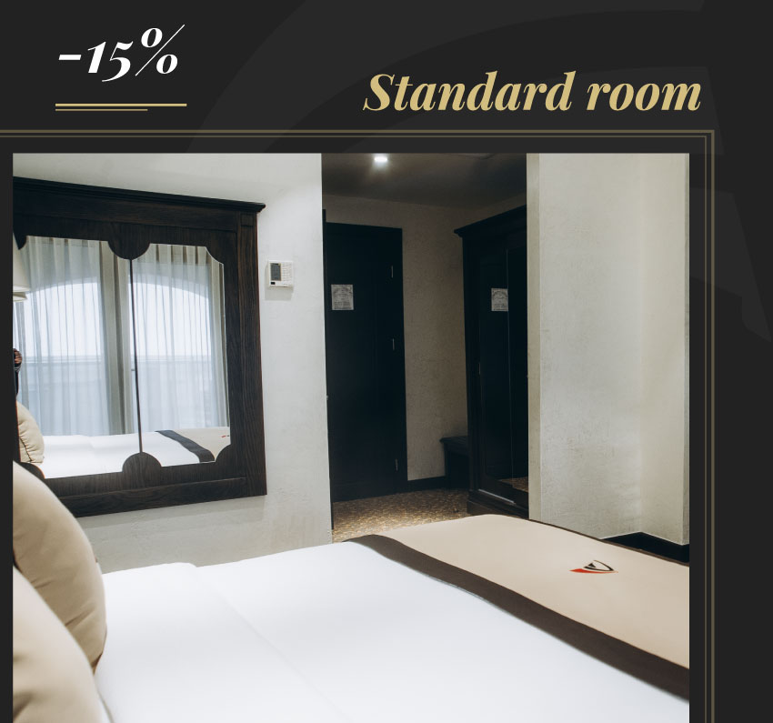 15% off on standard rooms